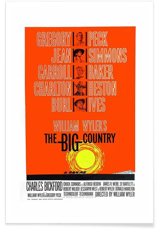 The big country Gregory Peck vintage movie poster