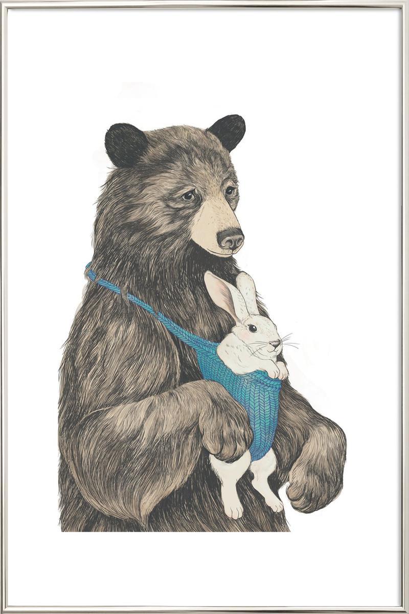 Poster im Alurahmen Bären Bear Au Pair von JUNIQE - Künstler: Laura Graves   Dekoration > Bilder und Rahmen   JUNIQE