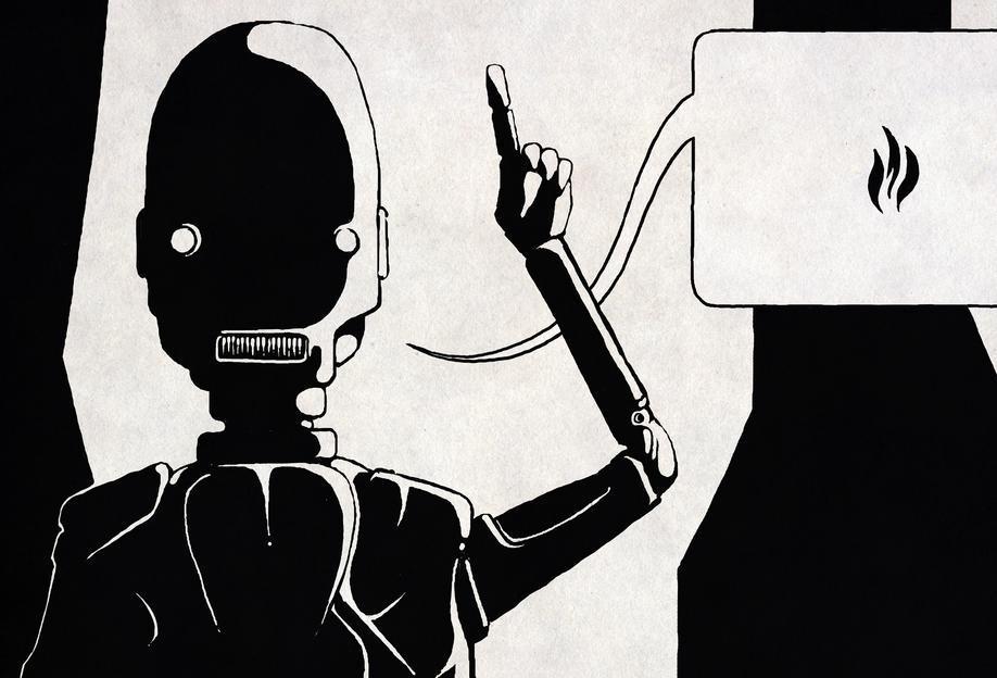 Glasbild Superhelden & fiktive Charaktere Ignis von JUNIQE - Künstler: Headless | Dekoration > Bilder und Rahmen > Bilder | Black - Ivory | JUNIQE