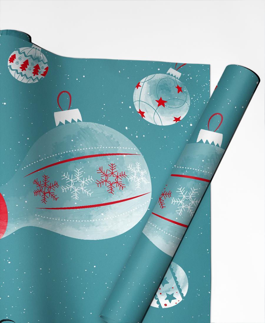 Geschenkpapier Weihnachten Bubbies von JUNIQE | Weihnachten > Geschenkideen | JUNIQE