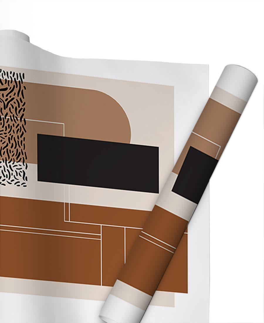 Geschenkpapier Abstrakt & Geometrisch Beige & Brown von JUNIQE | Weihnachten > Geschenkideen | JUNIQE