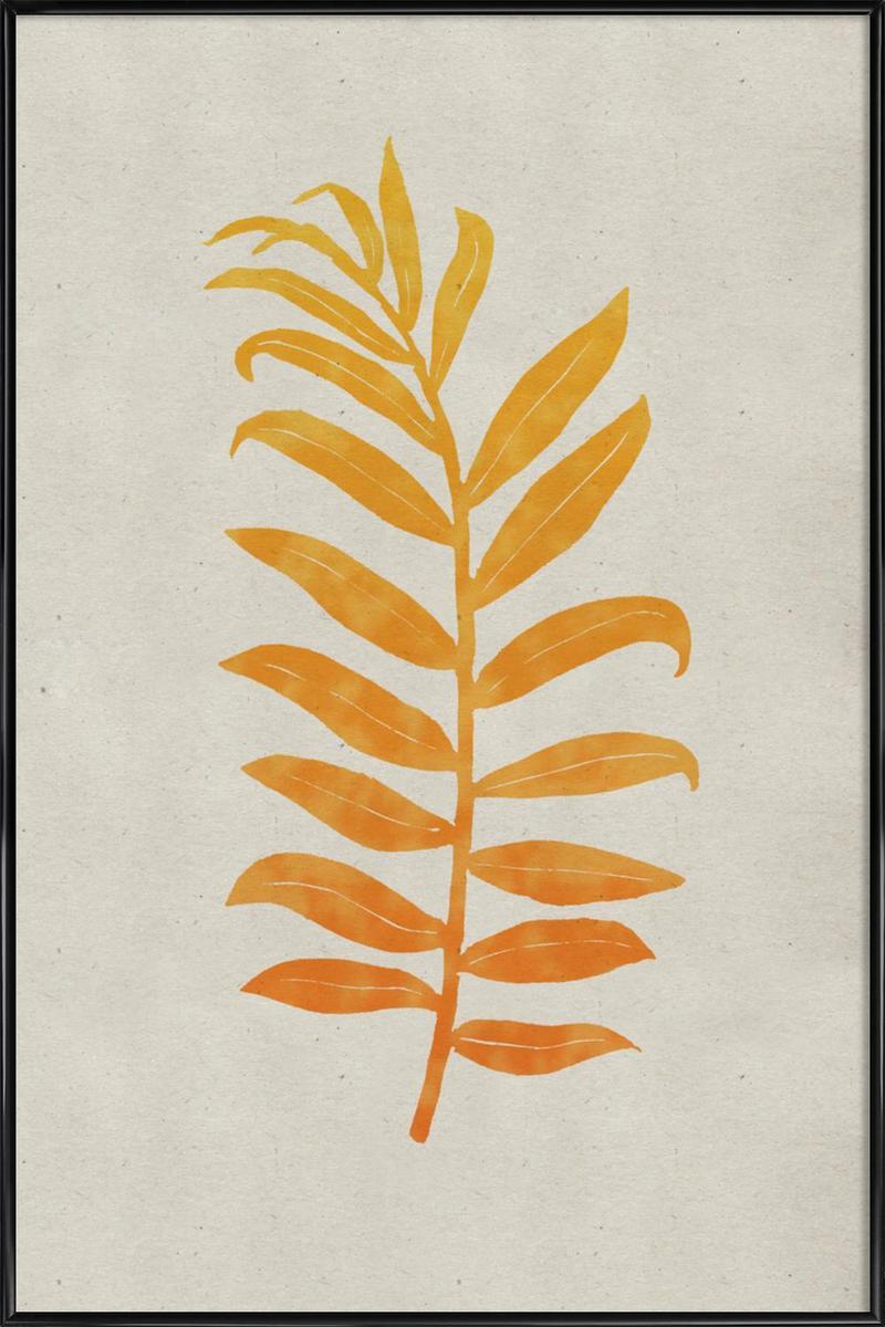 Kunstdruck Blätter & Pflanzen Areca Palmata Mango von JUNIQE - Künstler: Elena Veronese   Dekoration > Bilder und Rahmen   JUNIQE