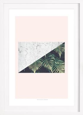 Tropical Geometry - Poster in Wooden Frame