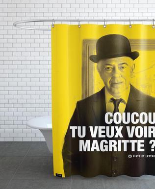 desrechutes-Slogan Citation Rideau de douche
