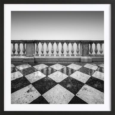 Venezia - Terrazzo - Poster in Wooden Frame