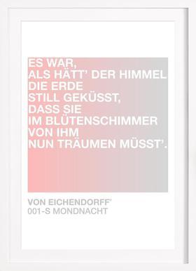 Mondnacht Light 01 - Affiche sous cadre en bois