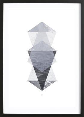 Translucent no. 05 - Affiche sous cadre en bois