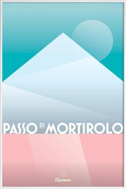 Passo di Mortirolo II - Affiche sous cadre standard