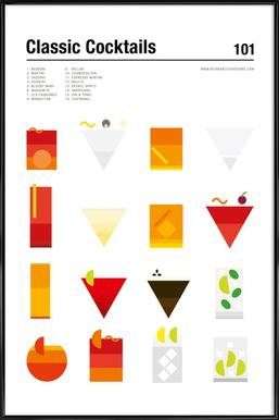 Classic Cocktails - Poster in Standard Frame