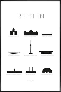 Berlin Icons - Affiche sous cadre standard