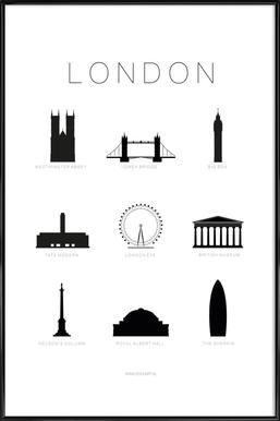 London - Poster im Kunststoffrahmen