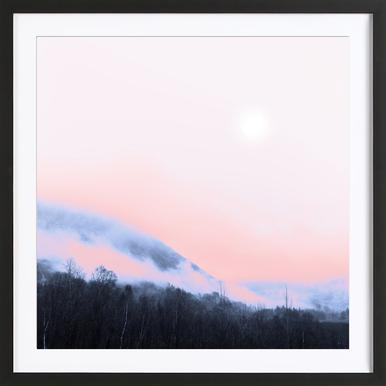 Smokey Pink - Poster in Wooden Frame