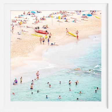 Beach - Affiche sous cadre en bois