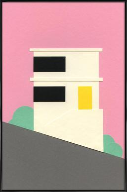 San Francisco Hill House - Affiche sous cadre standard