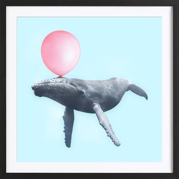 Bubblegum Whale Poster