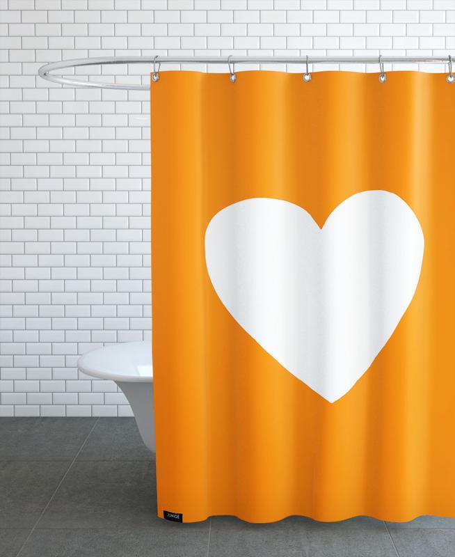 Autumn Heart Shower Curtain