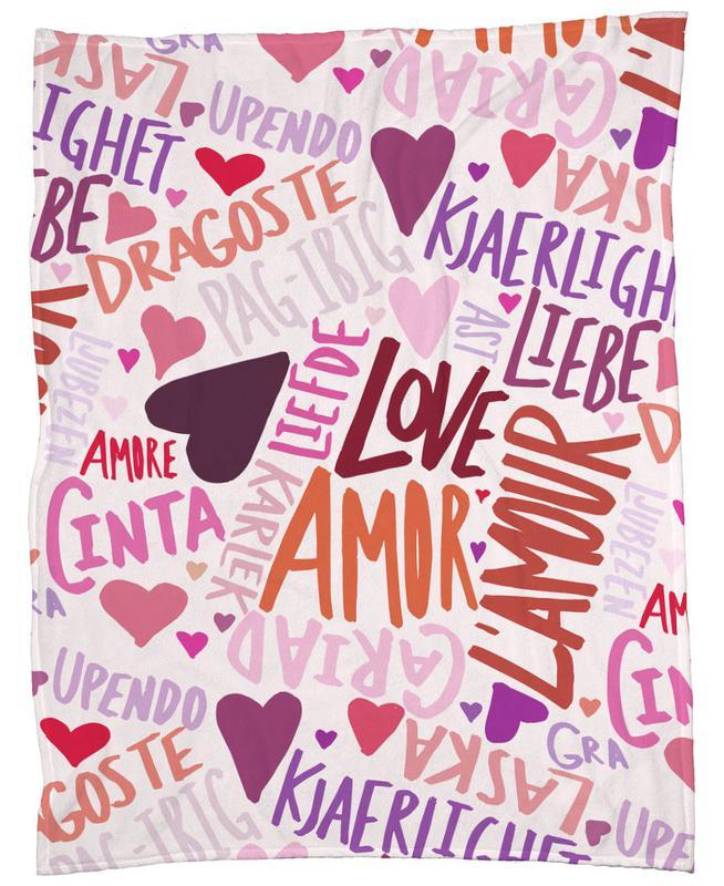 Love Languages Fleece Blanket