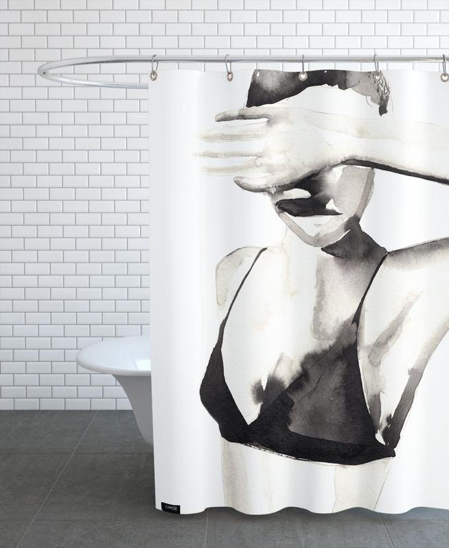 Hello The Dandizette Shower Curtain