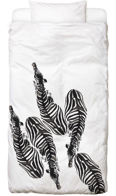 Schwarz & Weiß, Zebras, Zebra Bettwäsche
