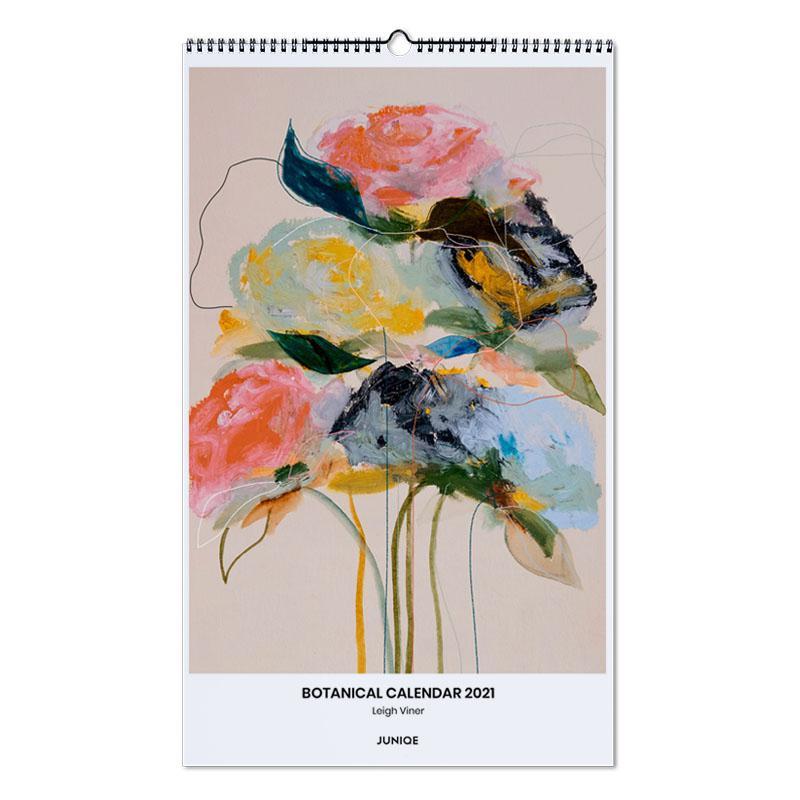 , Botanical Calendar 2021- Leigh Viner Wall Calendar