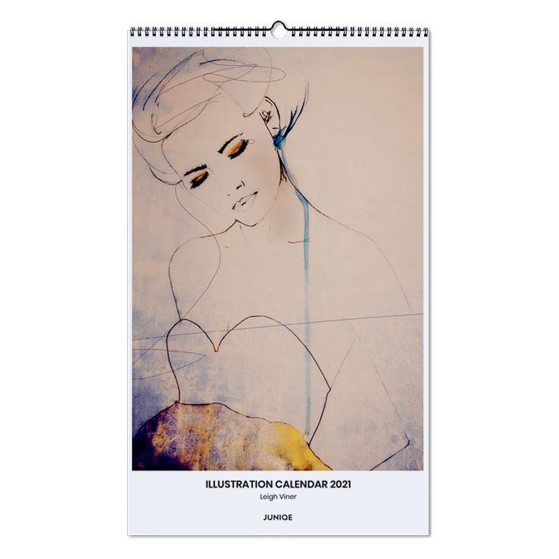 , Illustration Calendar 2021- Leigh Viner calendrier mural