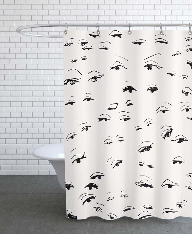 Body Close-Ups, Eyes Shower Curtain