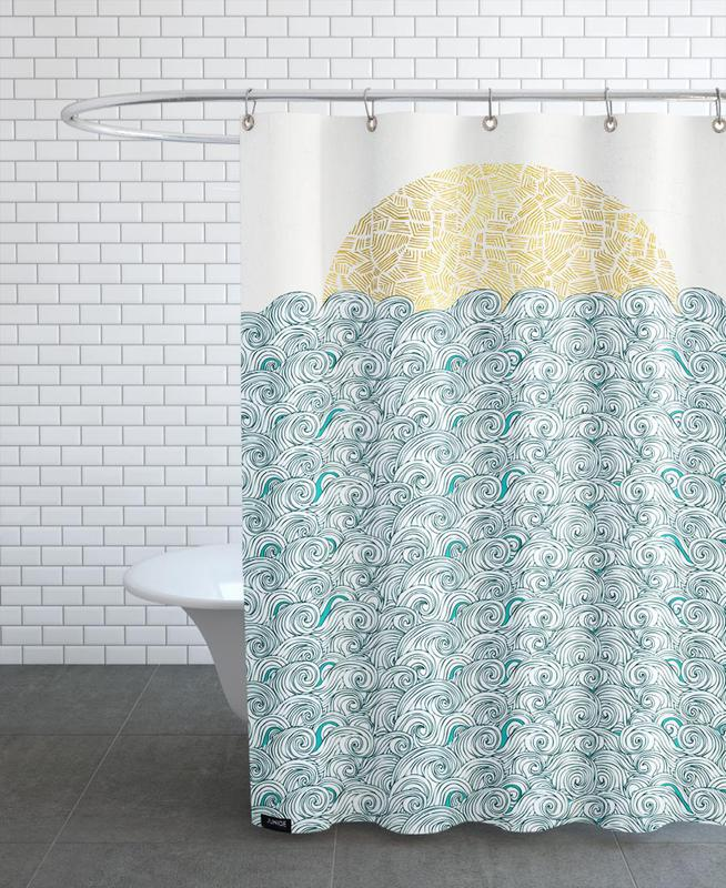 Ocean, Lake & Seascape, Sunny Tribal Seas Shower Curtain