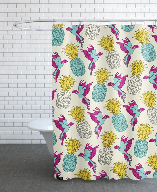 Wrapping Paper Pineapple Shower Curtain