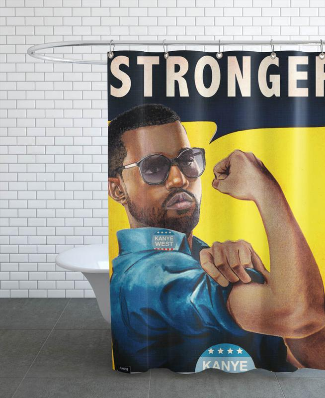 Stronger #2 Shower Curtain