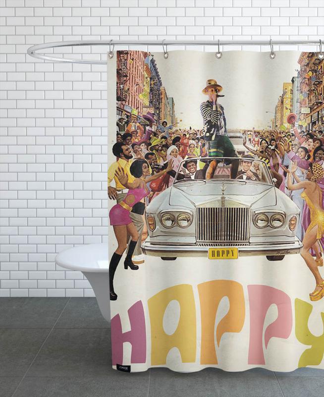 Happy #2 Shower Curtain