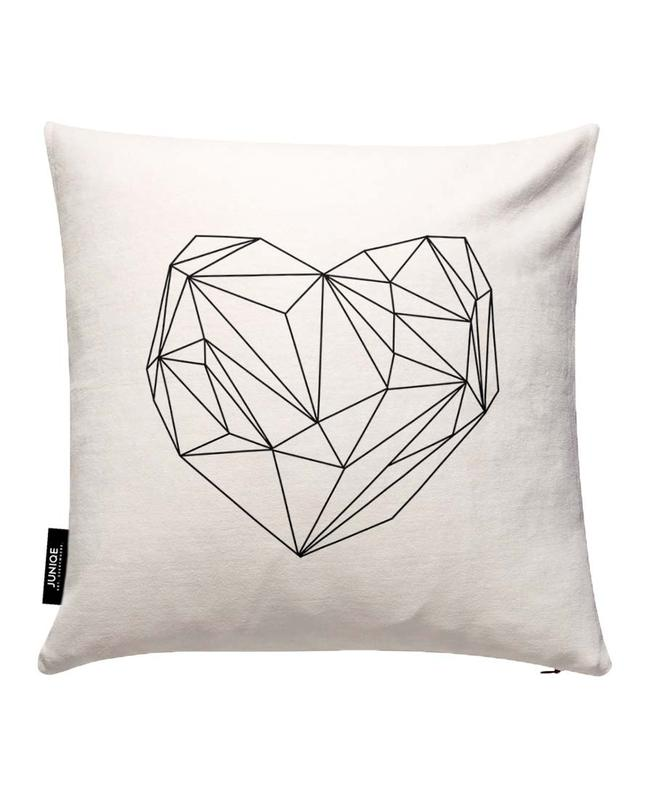 Heart Graphic Cushion Cover