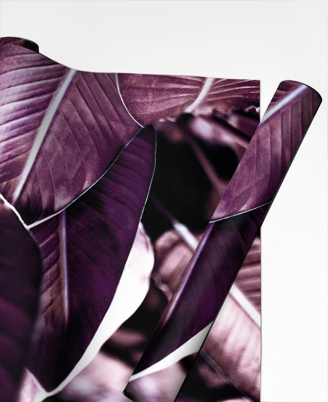 Leaves & Plants, Red Leaves Gift Wrap