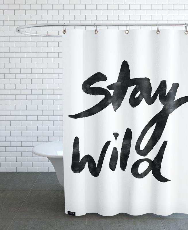 Geburtstage, Schwarz & Weiß, Stay Wild -Duschvorhang