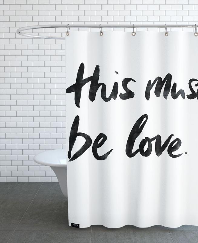 Liebe & Jahrestage, Schwarz & Weiß, This Must Be Love 2 -Duschvorhang