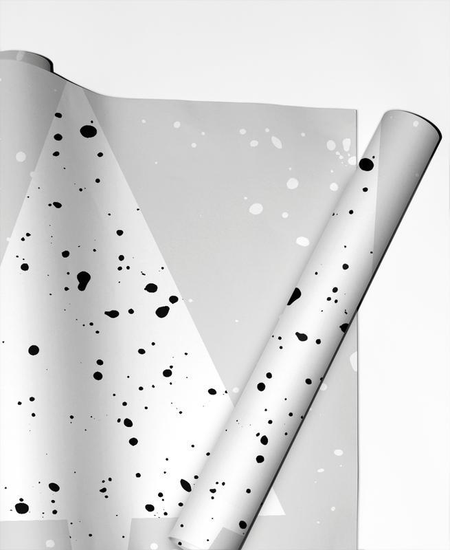 Noir & blanc, Noël, Christmas Tree 2 papier cadeau
