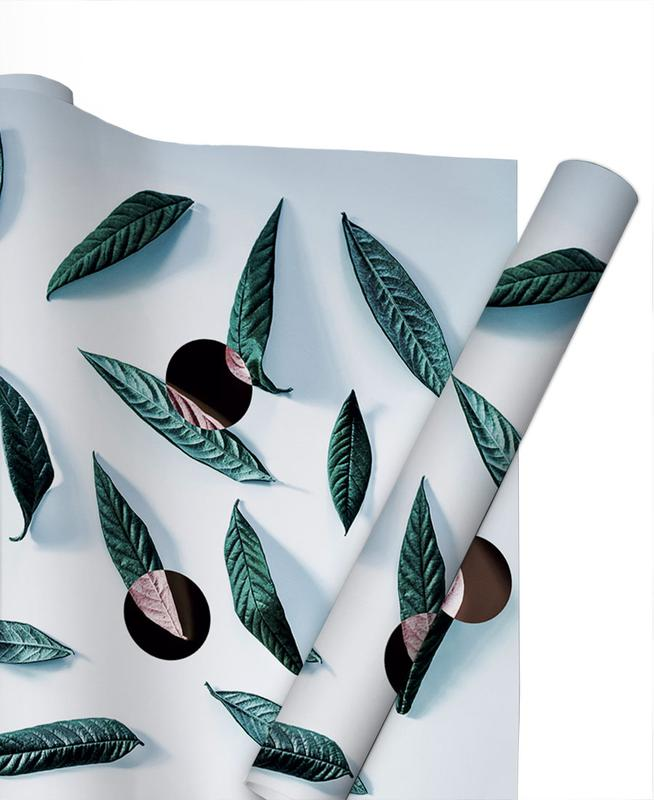 Leaves And Dots Gift Wrap
