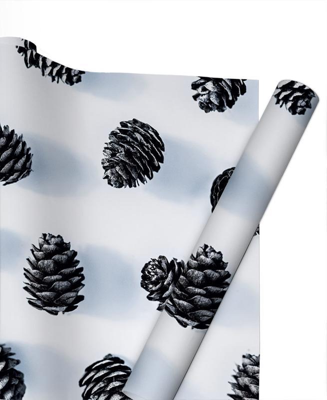 Noël, Feuilles & Plantes, Pine Cones papier cadeau