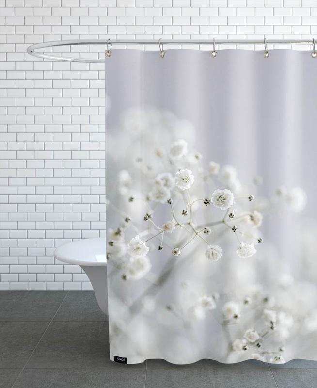 Black & White, Baby's Breath Shower Curtain