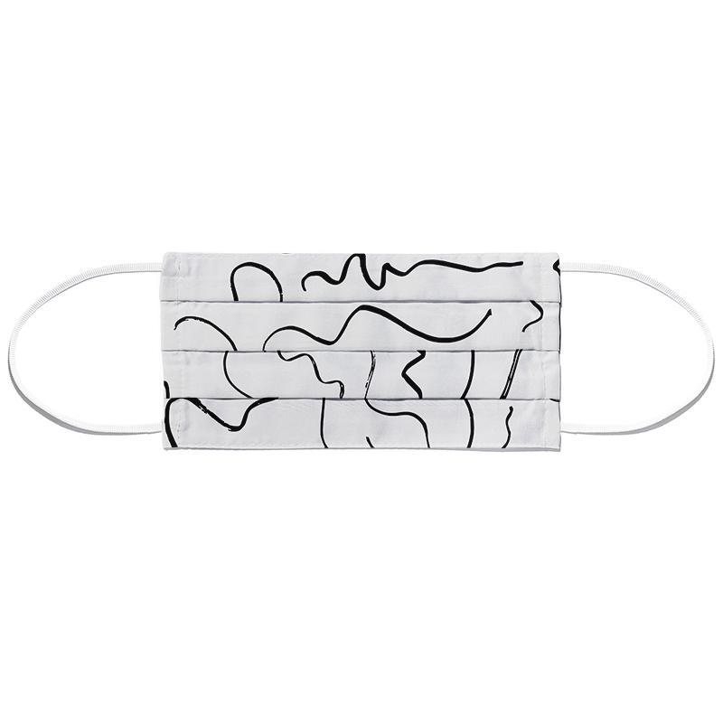 Scribbled Pattern 5 Masque barrière en tissu