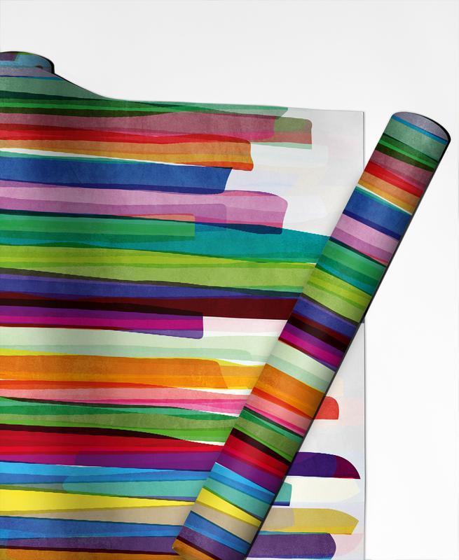 Colorful Stripes 1 -Geschenkpapier