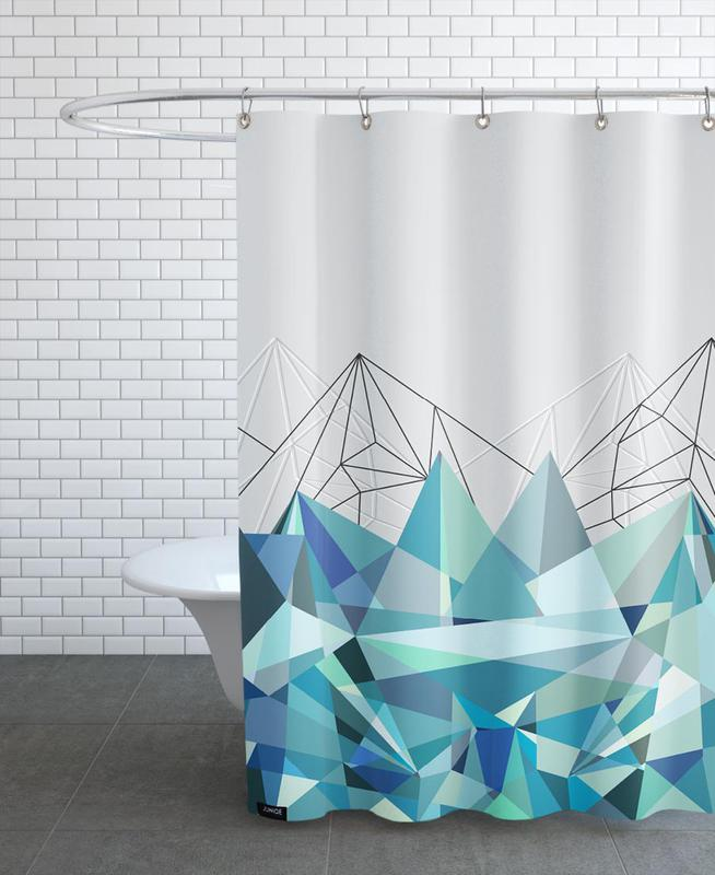 , Colorflash 3 Turquoise Shower Curtain