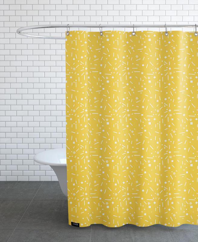 Abstrakt Gelb Shower Curtain