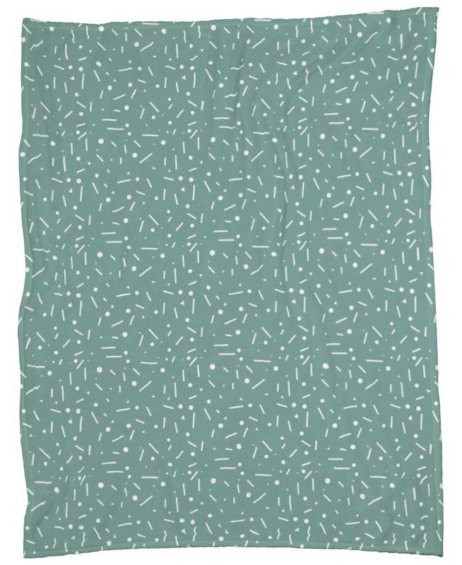 Abstrakt Türkis Fleece Blanket