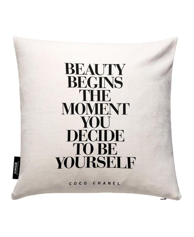 Beauty Begins Cushion Cover