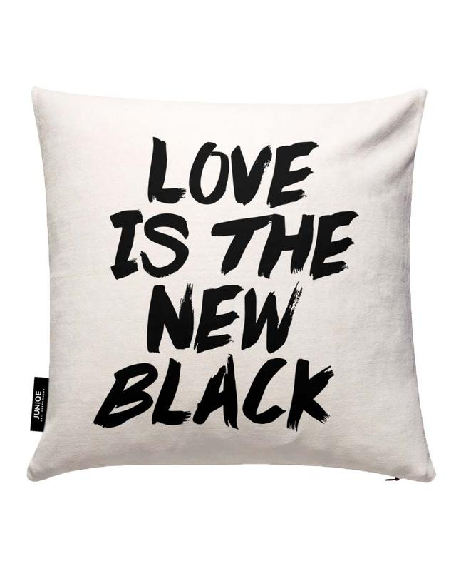Love Is The New Black Cushion Cover