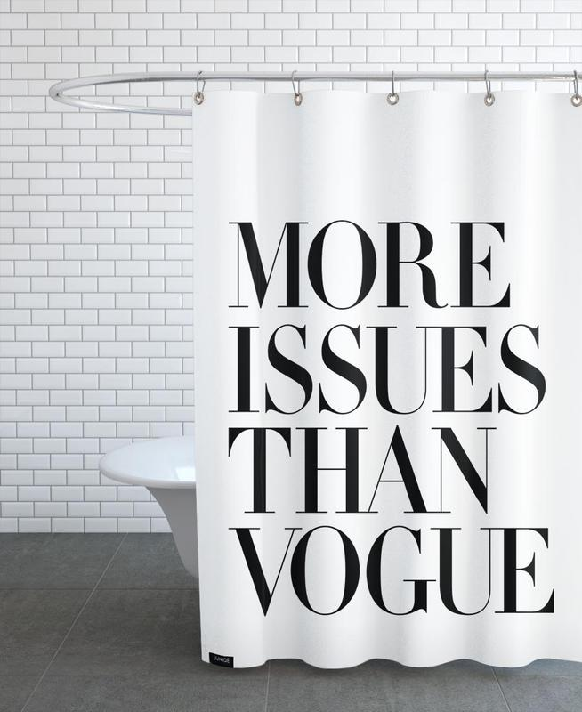 More Issues Than Vogue White Shower Curtain