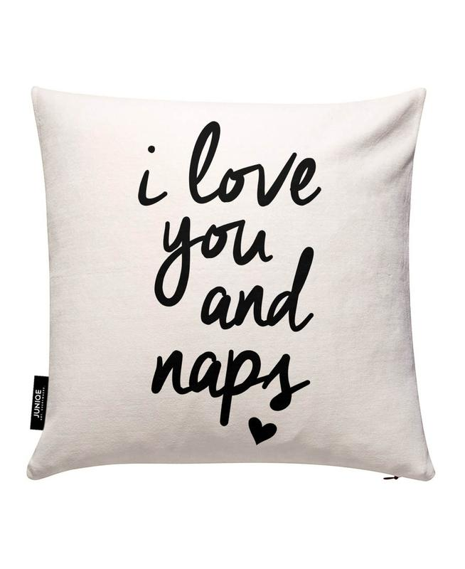 I Love You And Naps Cushion Cover