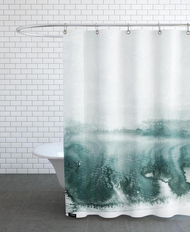 Abstract Landscapes, Rainy Day Shower Curtain