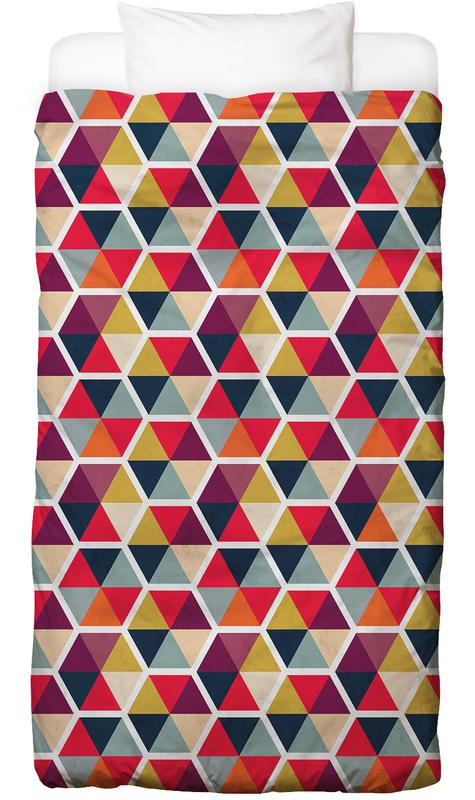 Colorful Umbrellas Geometric Pattern Kids' Bedding