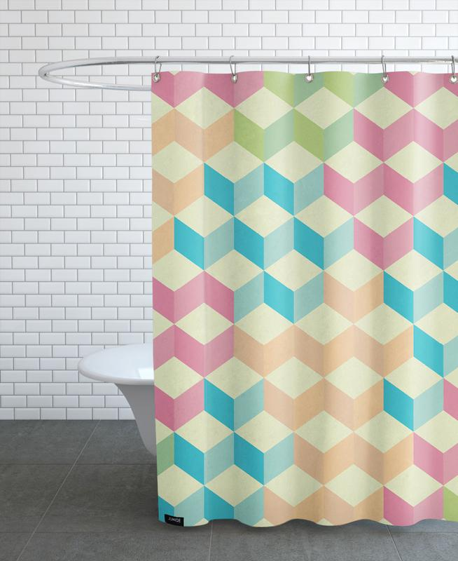 SugarCubes Geometric Pattern Shower Curtain